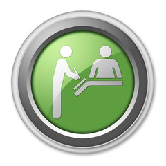 "Green 3D Style Button ""Registration"""
