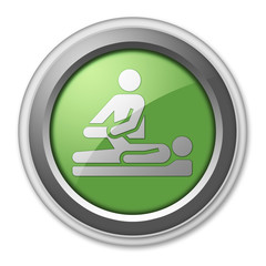 "Green 3D Style Button ""Physical Therapy"""