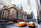 Grand Central Terminal with traffic, New York City