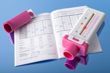 Peakflowmeter, COPD-Tagebuch und Inhalator