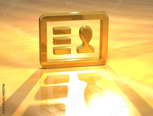3D Identity Card Gold Sign