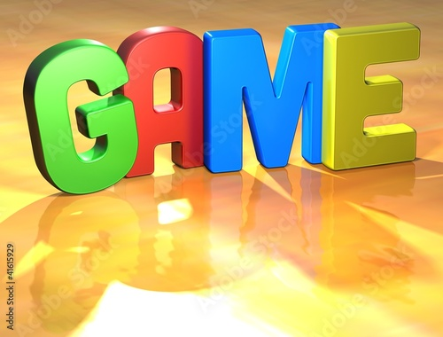 Word Game on yellow background