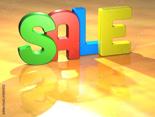 Word Sale on yellow background