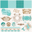 Scrapbook Design Elements - Vintage Love Set - in vector