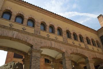 Patio de una iglesia de Segovia