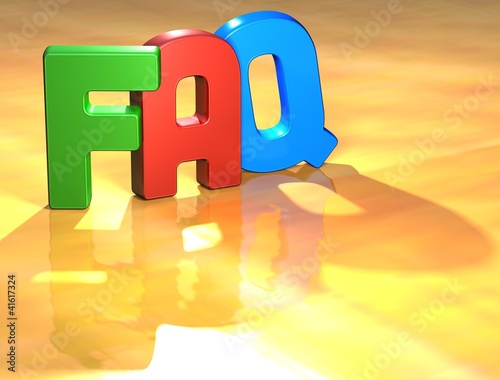 Word FAQ on yellow background
