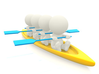 3D team rowing