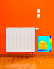 Radiator Heater Thermal Image