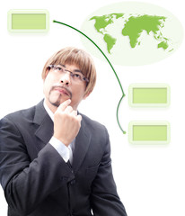 Specialist thinking how to make green world