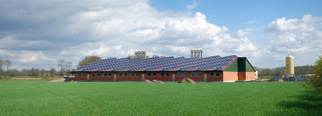 farm with solar panels