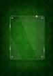 Yeşil fonda cam levha