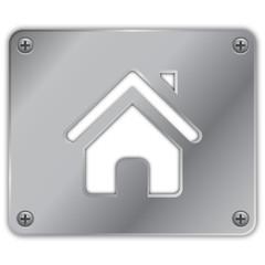 Metalik ev ikonu