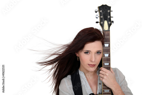 female guitar player