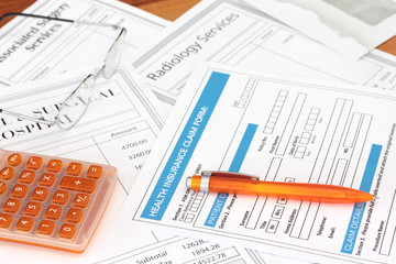 Surgey bills with health insurance claim