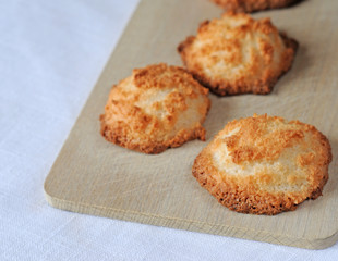 Freshly baked home made coconut macaroons
