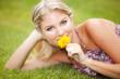 Woman grass