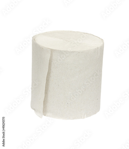 Toilet paper isolated on white bg