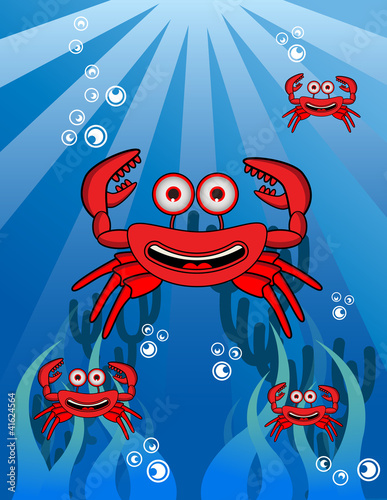 Crab Group Underwater