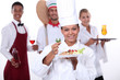 staff of food and catering sector
