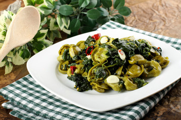 Tortellni with spinach and butter