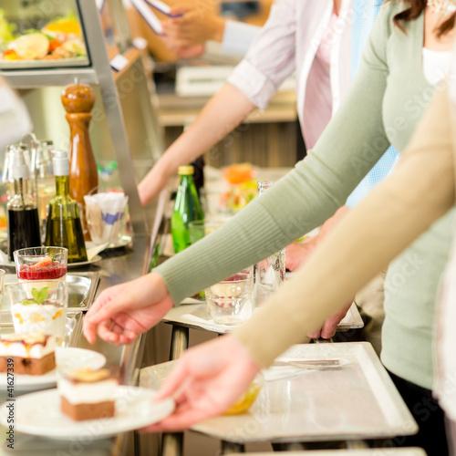 Dessert at cafeteria self-service canteen - 41627339