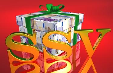 3D Geldgeschenk rot - SSV