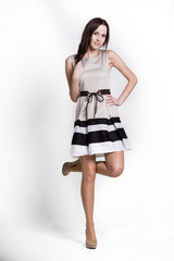 Beautifull woman in dress