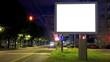 Advertising billboard time lapse