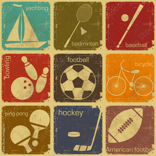 retro sport labels