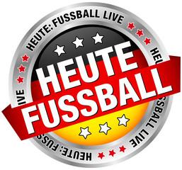 """Button """"Heute Fussball"""" schwarz/rot/gold"""