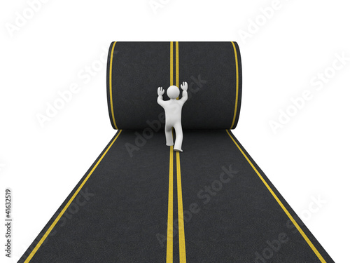 3d person paves road