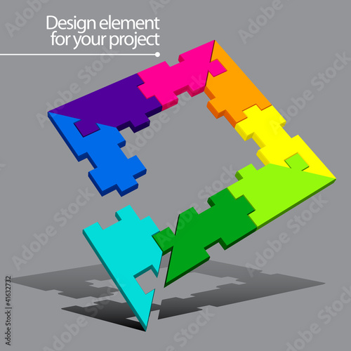 Puzzle vector element for your project