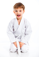 Aikido boy recreation position