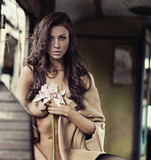 Fototapeta tło - piękny - Kobieta