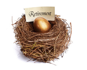 Retirement savings golden nest egg