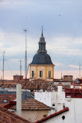 Over the Madrid`s roofs