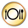 Menü Mittagessen Kantine Restaurant Piktogramm mit QXP9 Datei