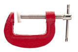 red metal clamp