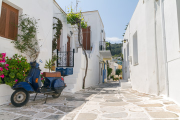 A Typical small street in a Greece