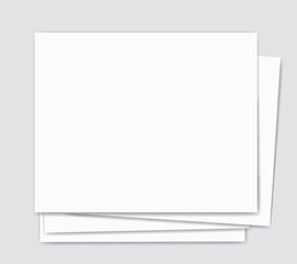 blank paper and silver background  vector illustration