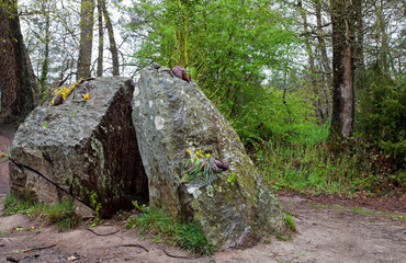 Tomb of Merlin in Paimpont forest, France