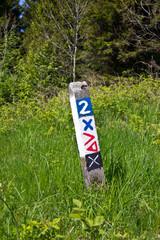 Markierung für Wanderer