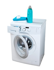 Washing machine and laundry powder for washing.