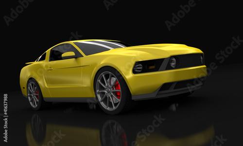 Gelber Amerikanischer Sportwagen