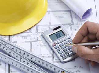 Bauplan eines Gebäudes