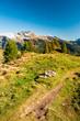 Hiking trail in swiss alps