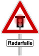 Warnschild Radarfalle
