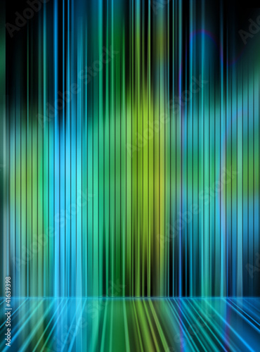 Abstract color light sabres
