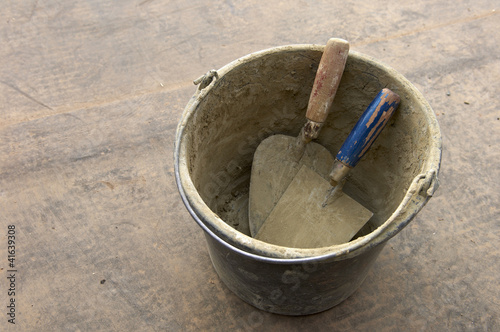 bucket and trowel Poster