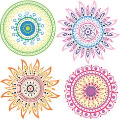 Set of color mandala